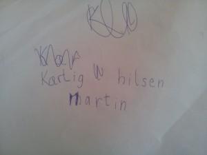 Martin skriver julekort 3