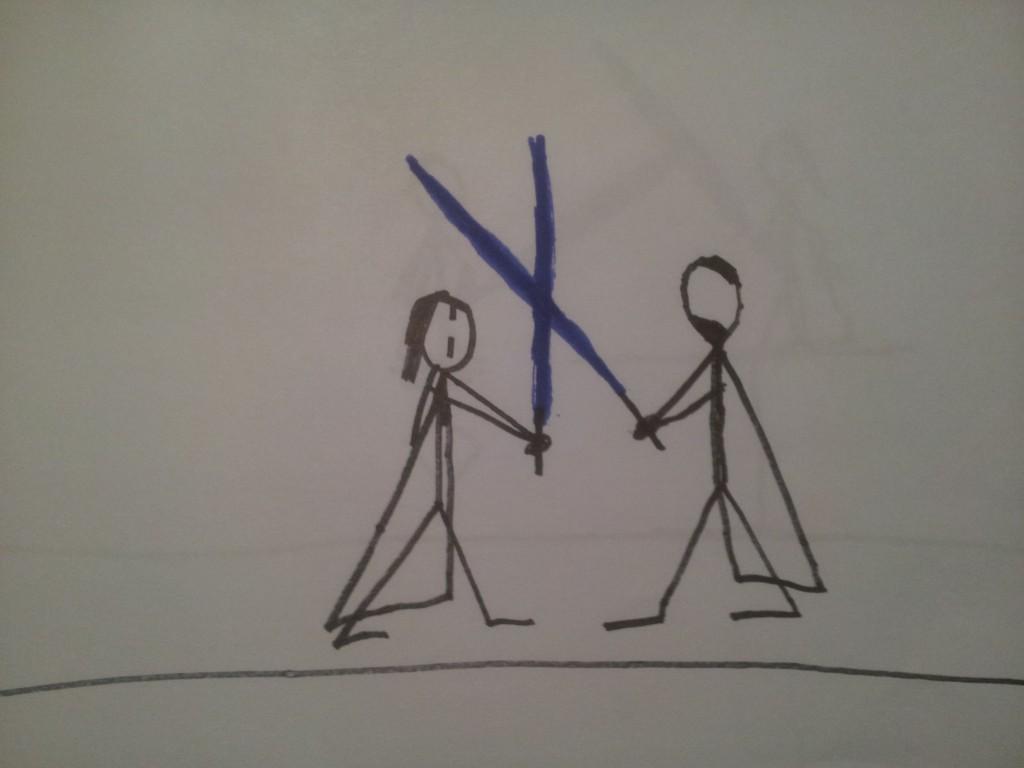 Anakin og Obiwan Kenobi fægter i dødmandssumpen 1