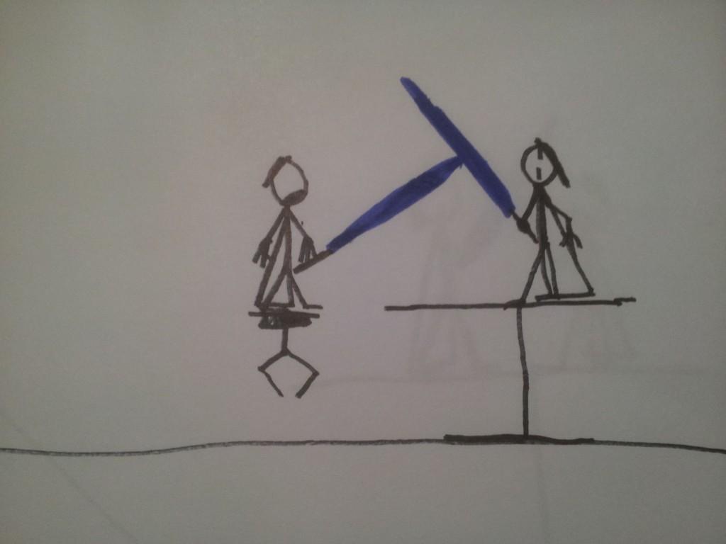 Anakin og Obiwan Kenobi fægter i dødmandssumpen 3