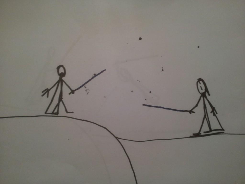 Anakin og Obiwan Kenobi fægter i dødmandssumpen 5
