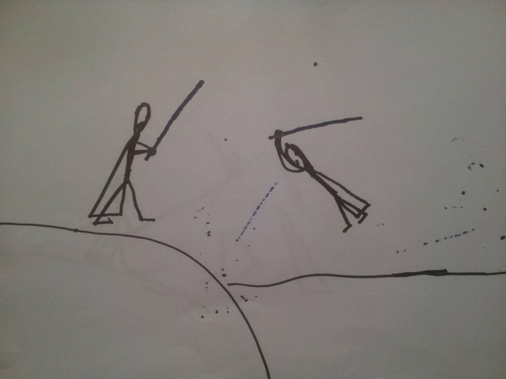 Anakin og Obiwan Kenobi fægter i dødmandssumpen 6