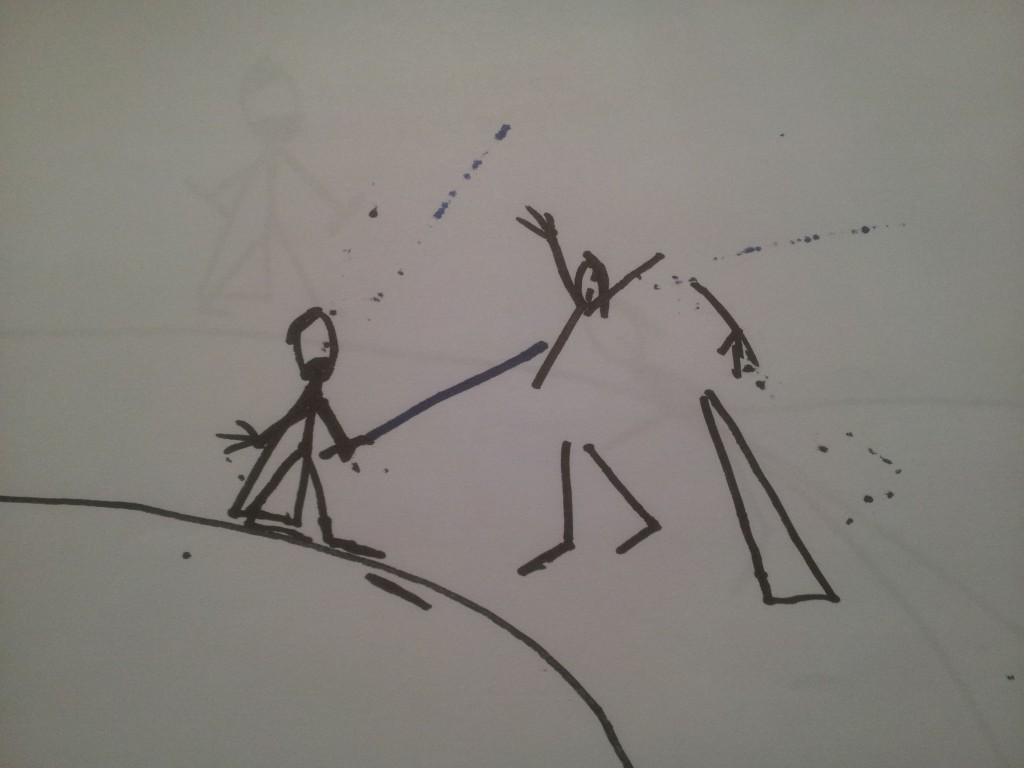 Anakin og Obiwan Kenobi fægter i dødmandssumpen 7