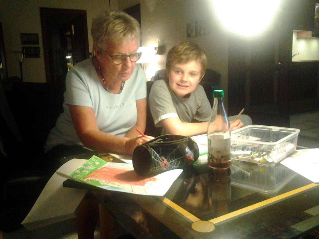 Bedste og Martin tegner og maler