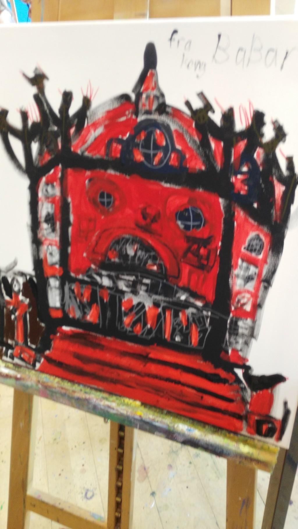 Martin på FOF kunstskole - 3
