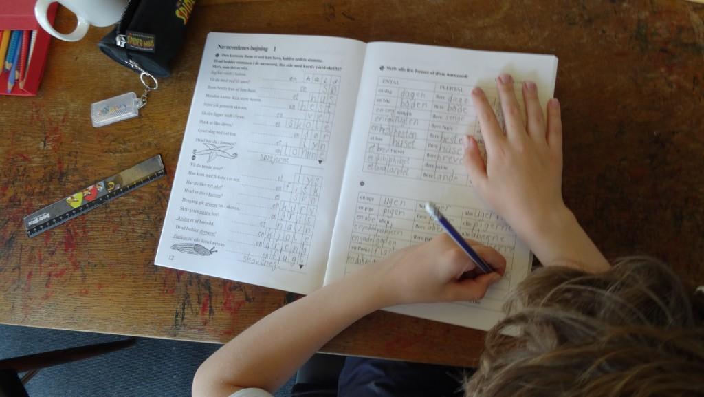 Martin laver skriftlig dansk.